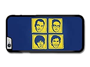 """AMAF ? Accessories Big Bang Theory Yellow and Blue Illustration Faces case for for iPhone 6 Plus (5.5"""")"""