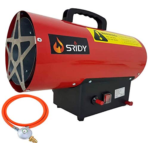 10KW Industrial Space Gas Heater Blow Heater Propane LPG Gas Portable Garage Industrial Space Heater DISCOUNT ZONE