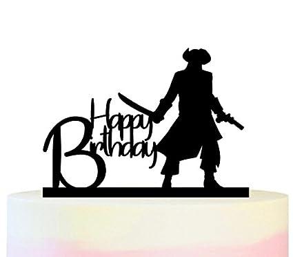 Amazon.com: tc0109 feliz cumpleaños fiesta de pirata juego ...