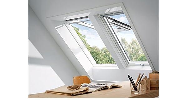 Velux GPL UK08 2070 - Ventana para techo (134 x 140 cm), color blanco: Amazon.es: Hogar