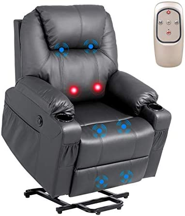 YOURLITE Electric Power Lift Recliner Chair Remote Control Massage Sofa