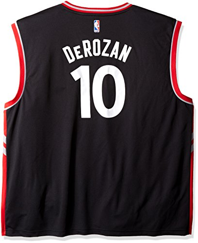 NBA Men's Toronto Raptors DeMar DeRozan Replica Player Alternate Flex Jersey, Large, Black (Black Jersey Raptors)