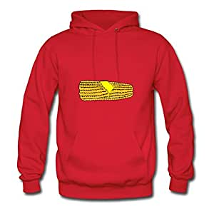 Women Sweatshirts Corn On The Cob Painting For Style Personality Hoodies-red X-large