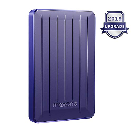 Portable External Hard Drive 500GB - Maxone Upgrade Portable HDD USB 3.0 for PC, Laptop, Mac, Xbox one, PS4, Chromebook, Smart TV - Blue