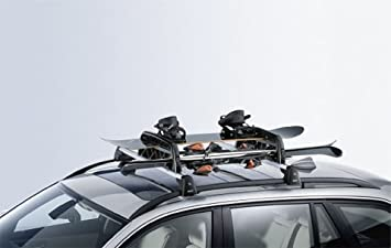 BMW genuino de esquí / snowboard de coches titular de rack de barras de techo con cerradura antirrobo (82 72 0 406 587)