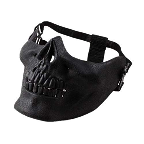 AILIUJUNBING Scary Skull Skeleton Mask Halloween Costume Half Face Masks for Party ()