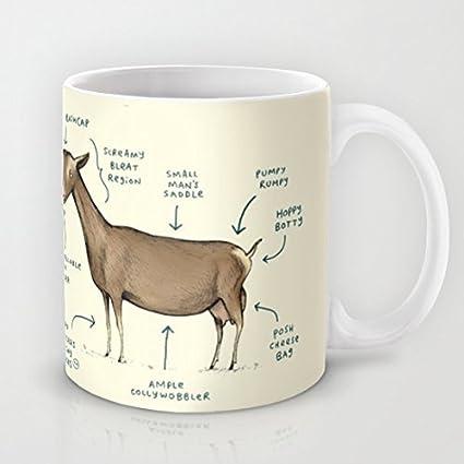 Anatomía de un Cabra Taza de café de cerámica, logo: Amazon.es: Hogar