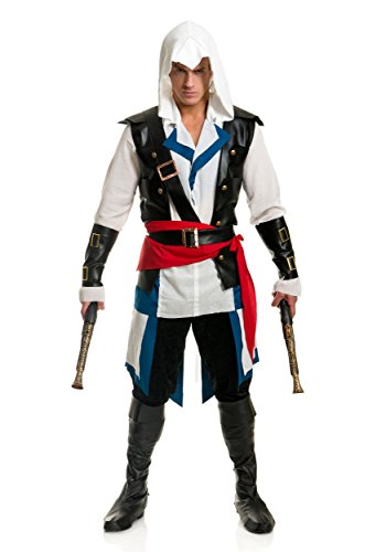 Colonial Assassin Costume (Charades Cutthroat Pirate Man Costume Large)