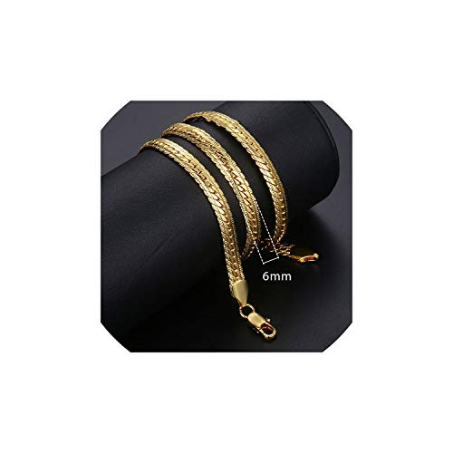 tcvncfshfs Gold Necklaces for Women Men Gold Filled Necklace Fashion Jewelry,Gn399,22Inch 55Cm ()