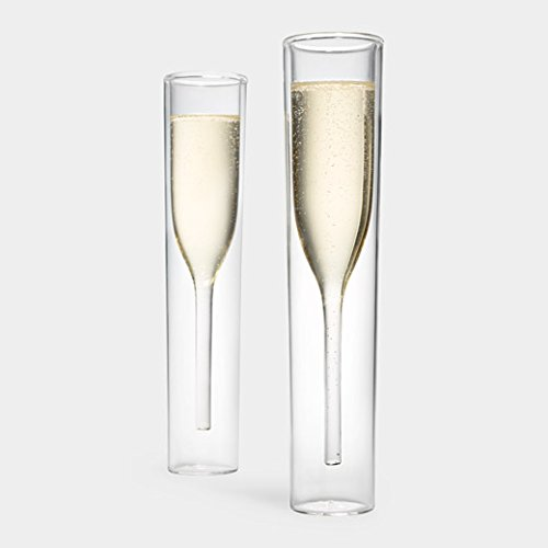 Inside Out Champagne Glasses by Alissia Melka Teichroew