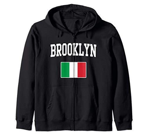 Brooklyn New York Italian Flag Italy Italia Italiano Zip Hoodie