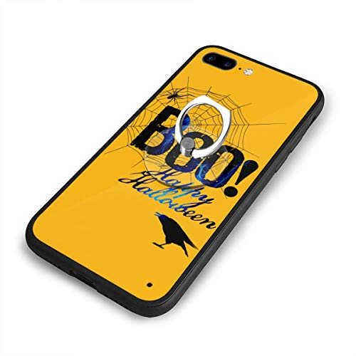 Boo Happy Halloween Free Printable Phone Case+Finger Ring Set Compatible with iPhone 7/8 Plus Rotation Kickstand -