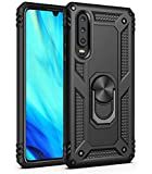 COVO Huawei P30 Lite Case Hybrid Dual Layer Shock-Absorption Anti-Scratch Huawei P30 Lite phone cases Slim Rotation Ring Magnetic attraction Case phone case for Huawei P30 Lite(Black)