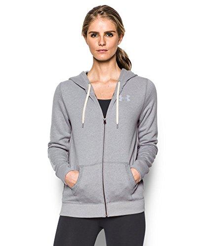 Under Armour Women's Favorite Fleece Full Zip, True Gray Heather (025), X-Small