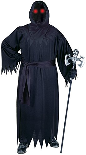 Phantom Wig (Funworld Mens Scary Black Fade In Out Unknown Phantom Halloween Party Costume, X-Large (48-52))