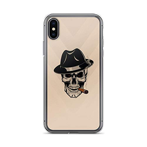 iPhone X/XS Pure Clear Case Cases Cover Skull Smoking Cigar
