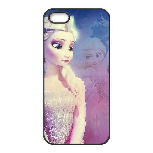 D7E23 Frozen Disney Cartoon Elsa G2A7JW coque iPhone 5 5s cellule de cas de téléphone couvercle coque noire CZ4IXG2SF