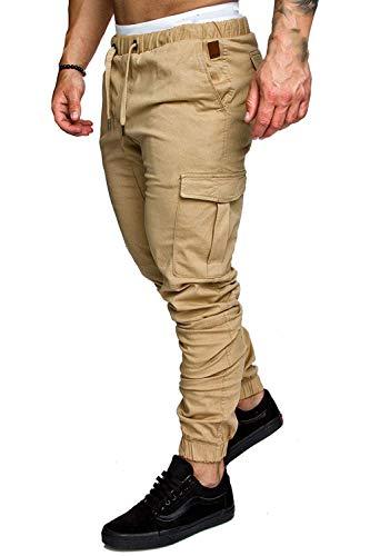 Per Hx Autunno Tempo Fashion Khaki Casual Tinta Uomo Lunghi Sportivi Da Taglie Pantaloni Vintage Unita Comode Cargo Il Abiti Jogging Libero Primavera rYrnOpqSg