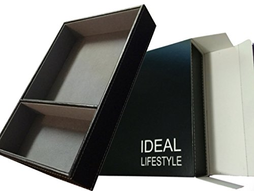 Ideal Valet Tray, Bedside Nightstand, Desk, Dresser or Drawer Organizer, Catchall Caddy, Storage, GiftBox Included, Black ()