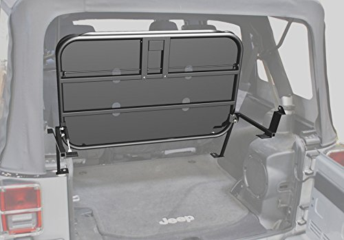 Rampage Jeep Products 86623 Black Powder Coat Finish Rear Fold-Up Sport Rack for Jeep Wrangler JK 4-Door by Rampage (Image #2)