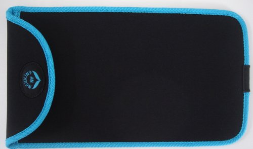 NewlineNY Travel Protection Sleeve for 700 Series Mini Bathroom Scale, NY-MSS101-BBL Black with Blue Edges (Case only, No scale)