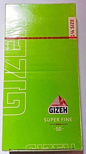 Gizeh 1.25 Lighteweight Cut Corners Cigarette Rolling Papers (Made in Austria) Box Of 25 -