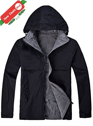 SWISSWELL Mens Snap-Front Nylon Jacket by Black Medium (Front Nylon Jacket Snap)