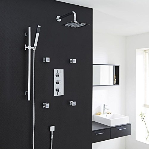 Hudson Reed 3 Outlet Shower System With Ultra-Thin 8