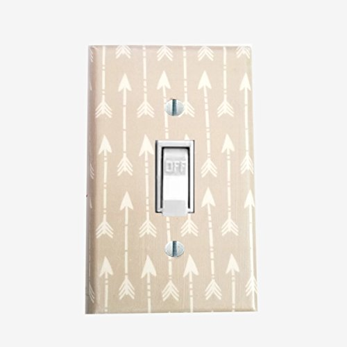Arrow light switch cover tan / ivory