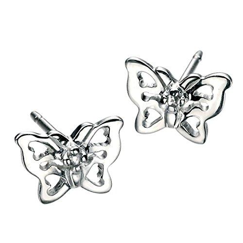 So Chic Bijoux © Boucles d'oreilles Papillon Diamant Argent 925