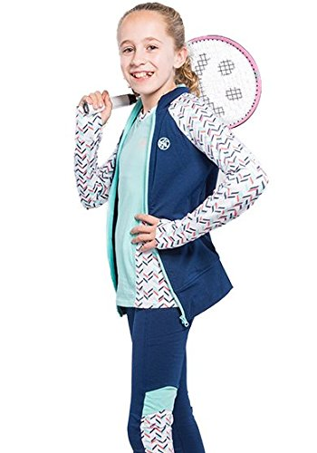 3 Piece Tennis Activewear Outfit For Girls-Long Sleeve Te...