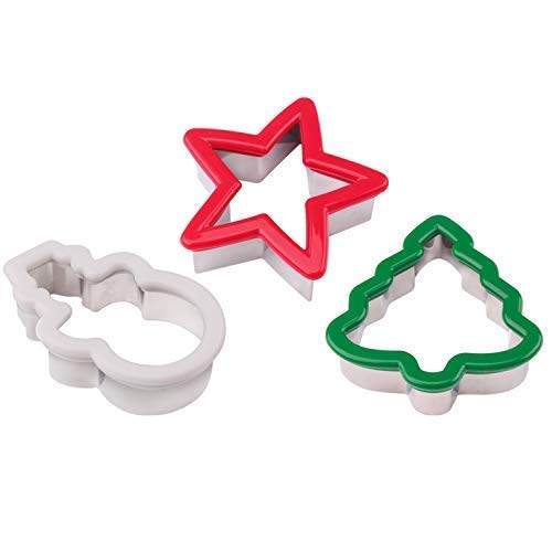 Cookie Cutter, Christmas tree/Star/Snowman for Kids to Made Biscuit and Sandwich Stainless Steel