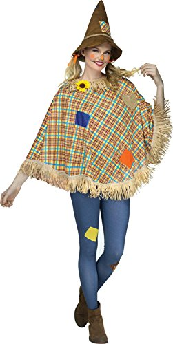 Scarecrow Adult Poncho One Size