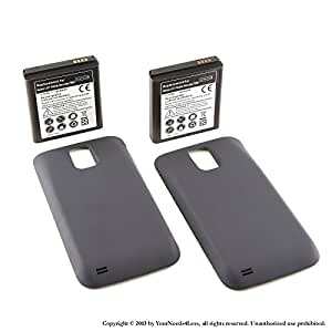 YN4L 2x 3600mAh extended battery for Samsung Galaxy S II 2 Hercules T989 T-Mobile + Black cover