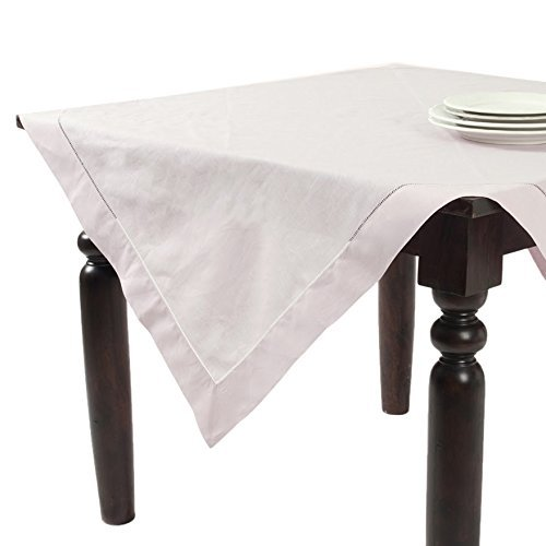 Fennco Styles Handmade Basic Hemstitch Linen-Cotton Tablecloths - (65''x160'', Ecru) by fenncostyles.com