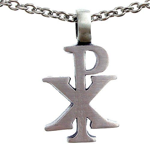 The Chi Rho Px Christogram Symbol Silver Pewter Pendant W Necklace