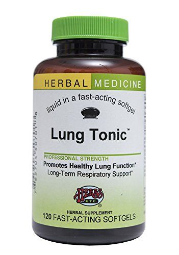 Lung Tonic – Long-term Herbal Respiratory Remedy Supports Lung and Bronchial Health – All-Natural – 120 Softgels (Contains Mullein, Horehound, Elecampane, Grindelia, Echinacea, Pleurisy Root, Osha & More) – Herbs Etc