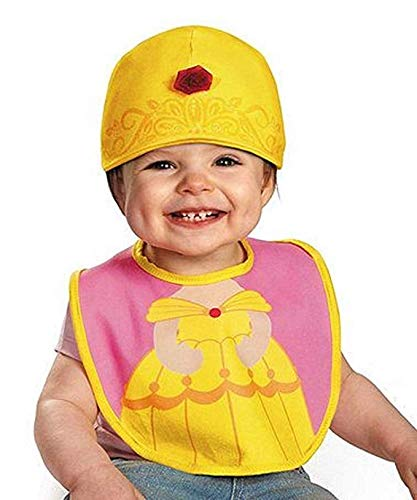 Disney Disguise Princess Belle Bib and Hat Set ~ case of 80 ~ Bibs in Bulk