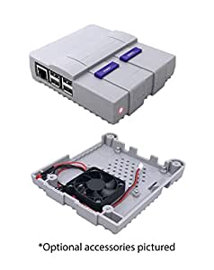 Super Tinytendo Case for Raspberry Pi 3, 2, Model B with Large Cooling Fan