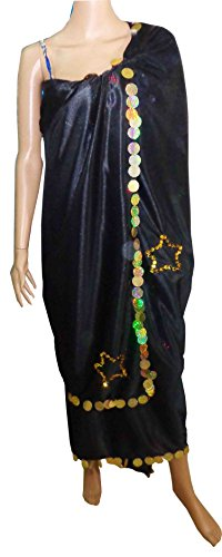 Iskandarani Costume (Egyptian Large Belly Dance Professional Melaya Laff Leff Baladi Iskandarani Veil 408)