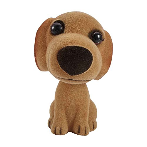 ATMOMO BROWN Nodding Dog Mini Bobble Head Toys for Car Decoration Pug Bobblehead Mini Puppy Dog Car Dashboard Decoration with Aromatherapy Pads ()