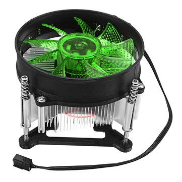 909025mm 4Pin 12V Red Blue Green LED CPU Cooler Cooling Fan for 1150 1155 1156 1151 - Computer Components CPU Cooling Fans - (Green) - 1 X 900x400x3mm Oversized Thicker -