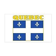 CafePress - Quebec Flag Sticker (Rectangle) - Rectangle Bumper Sticker Car Decal