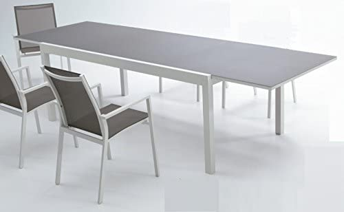 Mesa aluminio extensible Sky 200-300x100: Amazon.es: Jardín