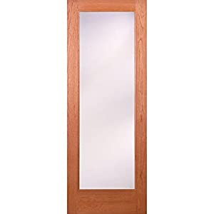 Privacy Woodgrain 1 Lite Unfinished Cherry Interior Door Slab