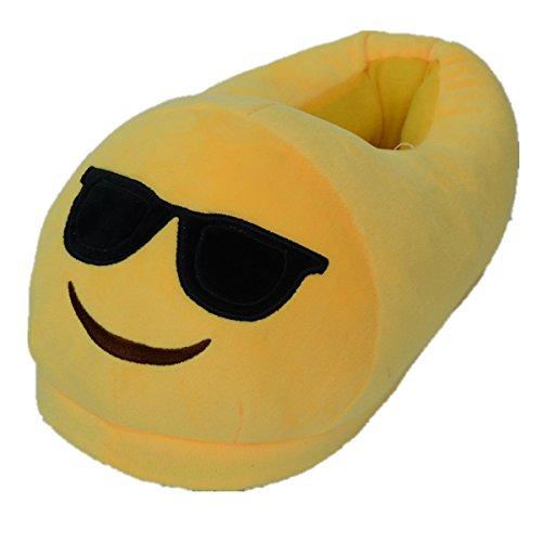 Sabe Unisxe Women Men Home Creative Emoji Cartoon Expression Funny Soft Couple Slippers Cool qaxyt1v