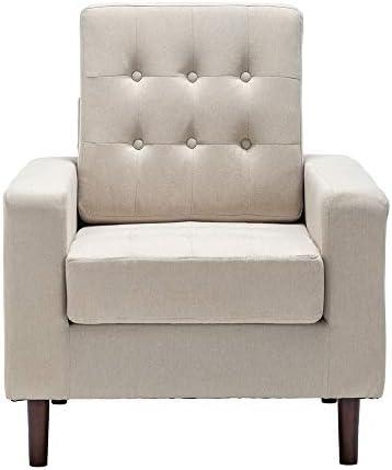 Bedroom Accent Armchair Mid-Century Fabric Arm Chair