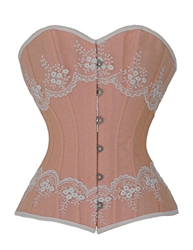 Ivy Shi Women's Victorian Overbust Corset Top (L, Pink)