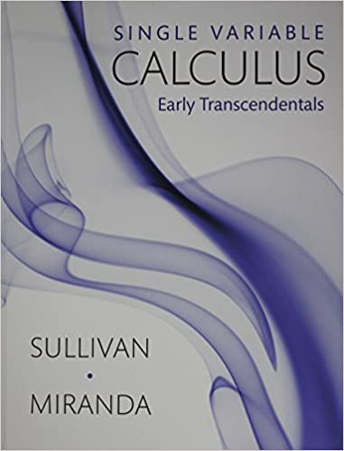 Single variable calculus early transcendentals michael sullivan single variable calculus early transcendentals fir edition fandeluxe Images