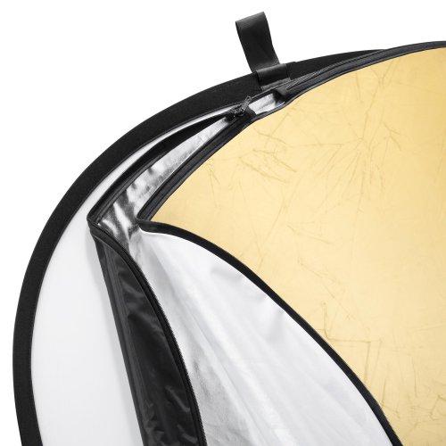 Walimex 5-in-1 Faltreflektor Set (150 x 200 cm) gold/silber/schwarz/transparent/weiß